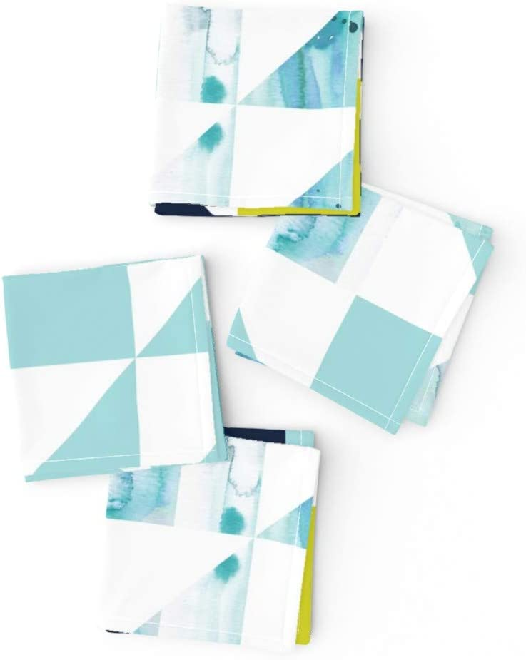 Roostery Cloth supreme Cocktail Napkins Cheater shipfree Triangl Baby Wholecloth