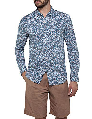 REPLAY M4953p.000.71958 Camisa, Multicolor (Mehrfarbig 10), Medium para Hombre
