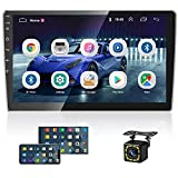 10.1 Inch Android Car Stereo 1080P HD Touch Screen Car Radio Double Din GPS Sat Navi Multimedia Player with WiFi+FM+Bluetooth Mirror Link, Rear View Camera & Dual USB