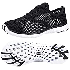 Breathable and durable air mesh upper allow the foot to breathe Solyte midsole provides an exceptionally lightweight midsole with excellent bounce-back and durability Water Grip and cushion outsole provides exceptional traction in wet and slippery co...