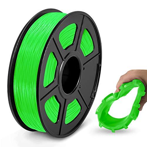 TPU Flexible Filament 1.75mm, JAYO 3D Drucker Filament TPU Härte 95A, Maßgenauigkeit +/- 0,02, 0.5KG/500G Spule, TPU Grün