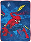 Marvel Spiderman Off The Wall Throw Blanket - Measures 46 x 60 inches, Kids Bedding - Fade Resistant Super Soft Fleece (Official Marvel Product)