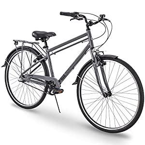 700c Royce Union RMX Mens 3-Speed Commuter Bike, 21″ Aluminum Frame, Cool Gray