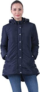 Plusfeel Womens Outdoor Sports Military Hooded Windproof Parka Anroaks Mid-Length Jacket Coats, S-3XXL