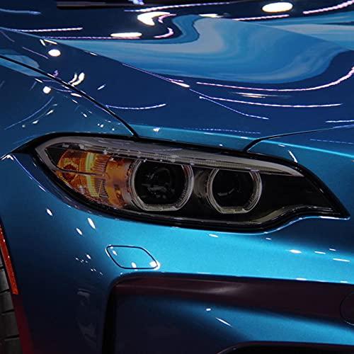 YYHHADM Car Headlight Protective Film Taillight Smoked Black Tint Wrap Vinyl Transparent TPU Sticker,for BMW M2 F87 2016-On CS M235i