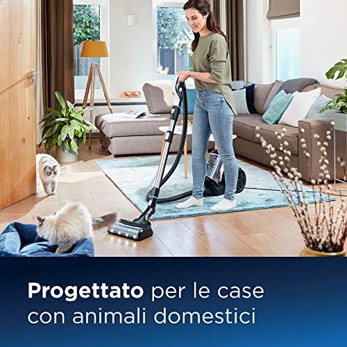 Bissell SmartClean Pet, Aspirapolvere Senza Sacco, Spazzola Rotante Antigrovigli e Riconoscimento Automatico del tipo di Pavimento, 2228N