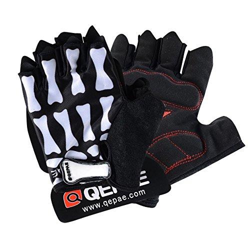 QEPAE Guantes de ciclismo deportivos con medio dedo, 045 (XXL)