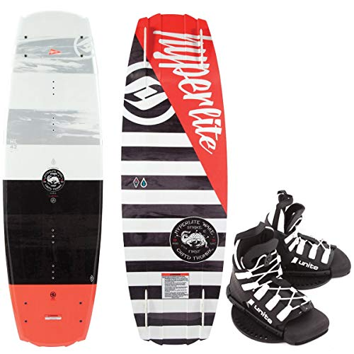 Hyperlite Franchise Kinder Wakeboard 128cm Junior Wakeboard-Set Bindung