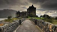 番号によるDiyデジタル絵画絵画オイルデジタルキット絵画キャンバスリネンデジタルアートギフト装飾スコットランドの城