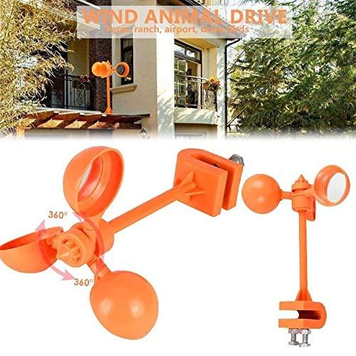 LiQinKeJi8 Répulsif à oiseaux durable à 360 ° - Répulsif pour oiseaux - Répulsif à oiseaux - Pour les récoltes d'oiseaux, les pigeons, les pelouses, les nuisibles - Outil pour lutter contre les oiseaux - Couleur : orange