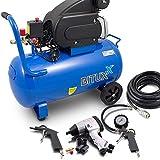BITUXX® Druckluftkompressor 50L Luftdruck Kompressor 50 Liter