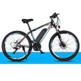 MXYPF Bicicleta Electrica MontañA,36v / 8ah BateríA De Litio De Alta Eficiencia-Rango De Kilometraje 30-50km-Bicicleta EléCtrica De Acero De Alto Carbono De 26 Pulgadas, Freno De Disco
