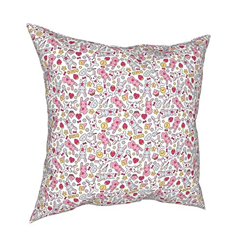 iksrgfvb Pillow Case Cushion Covers Seamless Kawaii Child Pattern With Cute Doodles Square Pillowcases for Living Room Sofa 18 x 18 inch