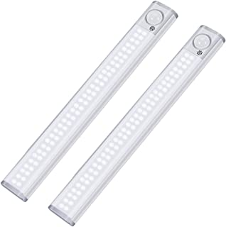 Litake New Version 120 LED Motion Sensor Closet Light,3 Color Modes Under Cabinet Lighting ,Rechargeable Brightness Adjust...