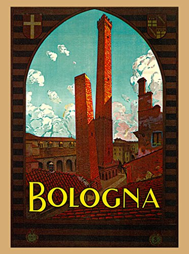 A SLICE IN TIME 1928 Bologna Italy Vintage Italian Travel Home Wall Decor Advertisement Art Poster Print. Measures 10 x 13.5 inches