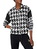 PUMA Women's Trend All Over Print Woven Jacket, Black-Houndstooth AOP, X-Small