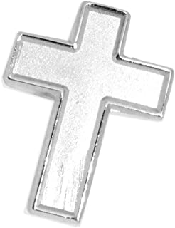 Chaplain Finish Cross Lapel Pin - Religious Christian Latin Ornate Official Brooch