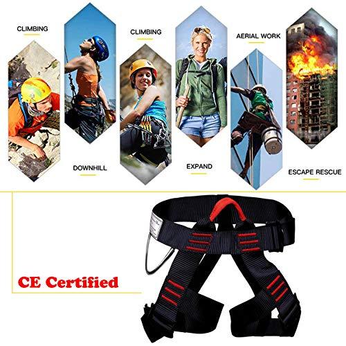 GNEGNI Klettergurt Sicherheitsgurt für Bergsteigen, Halber Körper Mehrzweck Einstellbar Klettern Berg Sicherheitsgurt für Outdoor-Abenteueraktivitäten(Normal)