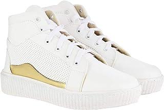 ABJ Fashion Long White Sneaker for Women