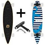Long Island Boat Longboard pintail Cruiser + Fantic26 Skate tool