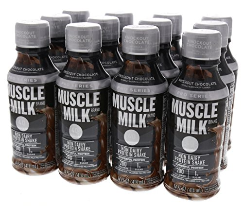 Cytosport - Muscle Milk Protein Shake RTD, Pro Series 40, Knockout Chocolate, 40 Gram Protein, 14 Fl Oz, 12 Count