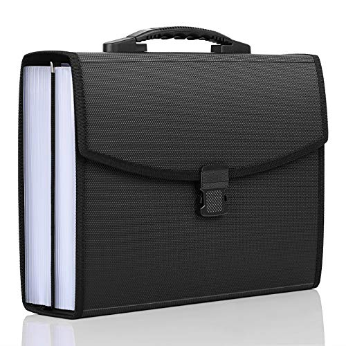 Skydue Accordian File Organizer 26 Pockets with Ergonomic Portable Handle,A4 Letter Size Expandable File Folder Organizer for Business, Office, School Home