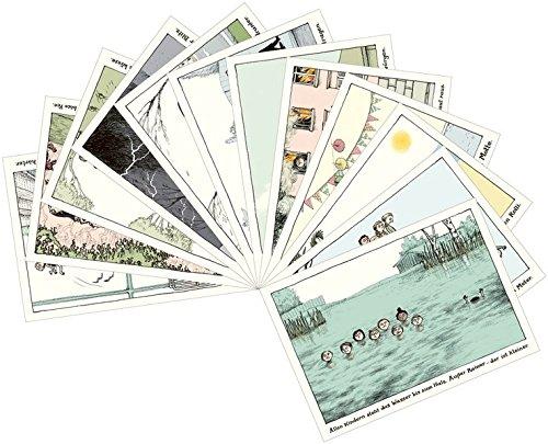 Alle Kinder gemischtes Postkartenset mit 12 Motiven: VE 12 Ex.