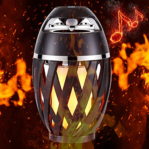 Flame Lamp Speaker, Torch Atmosphere Outdoor Table Lamp Bluetooth Speaker BT4.2 for iPhone/iPad/Android for Teenagers