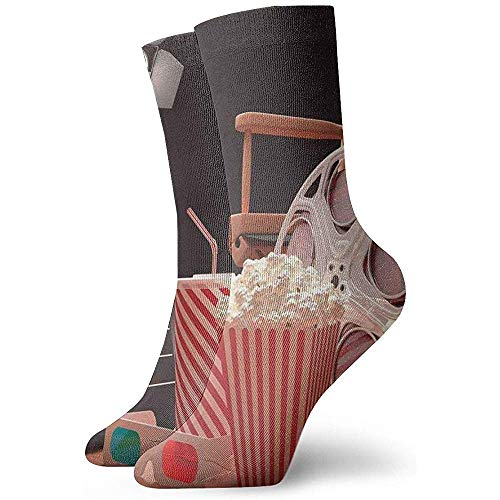Dydan Tne Kino Popcorn Film Kino Neuheit Crew Socks Athletic Socks