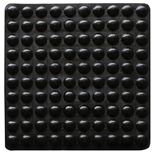 100 topes adhesivos de goma transparente