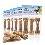 Nobleza - 18 Pezzi Osso Pressato per Cani Pelle Bovina Rinforzante per Denti Bastone Dentale Snack per Cani 10 cm