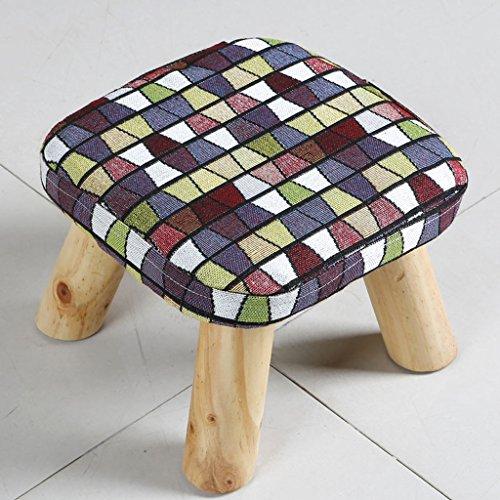 CKH Kleine vierkante thee-tafeltjes, lage schemel-resistente houten stoelen poten