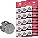15-Count KaPonsec CR1225 3V Lithium Coin Battery