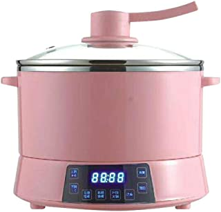 LIWEI Split Electric hot Pot 4L Household Multifunctional Intelligent Automatic Lifting fire, Cooking and Sugar Removal Integrated Pot Pink