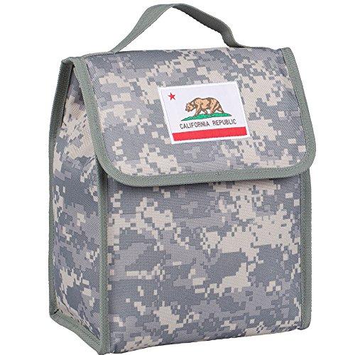 Wildkin Isolierte Lunchtasche für Jungen und Mädchen, perfekte Größe zum Verpacken von heißen oder kalten Snacks für Schule und Reise, Lunch-Taschen misst 25,4 x 21,7 x 12,7 cm, BPA-frei (California Digital Camo)