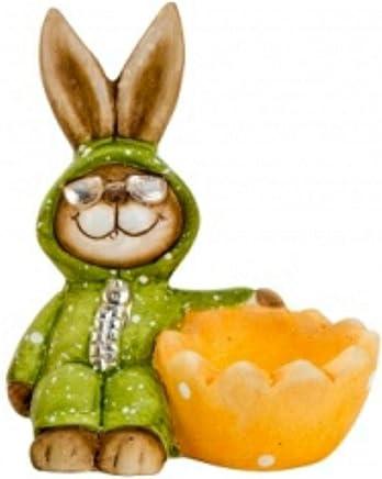 Preisvergleich für Eierbecher Hasen aus Keramik 3 Verschiedene Eierbecher zur Auswahl Osterdekoration Ostern Geschenkidee Osterhase von Trends (Eierbecher orange)