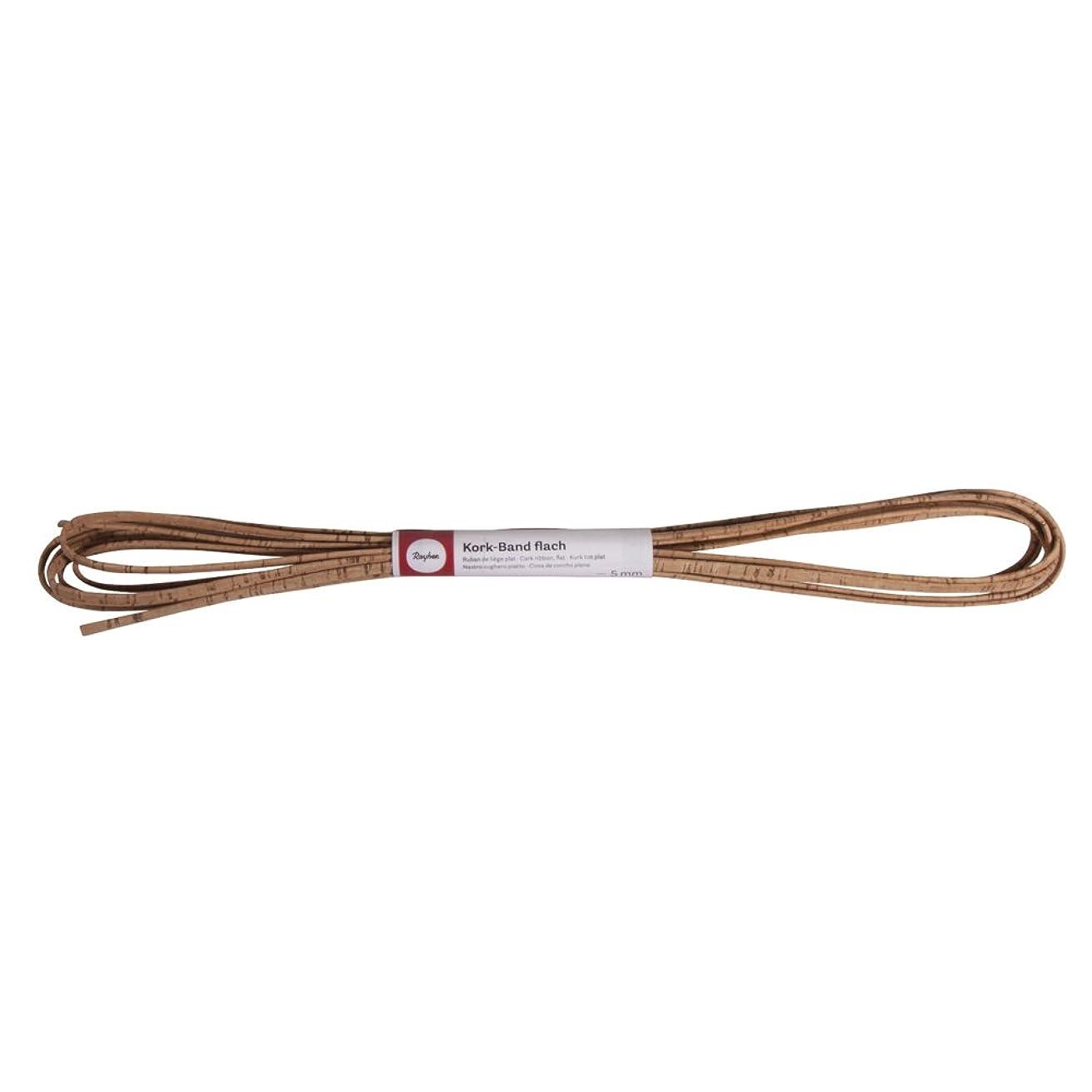 RAYHER Cork Cork Tape Bundle of Flat 3?mm?–?5?m, Cork, Natural, 35.5 x 5.5 x 4.5 cm