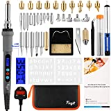 Fuyit LCD Wood Burning Kit 42Pcs Pyrography Thermostatic Digital-Controlled Pen Set Wood Craft Tools for Wood...