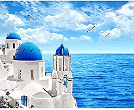 5D Diamond Painting Kit,5D DIY Diamond Painting Diamond Embroidery Blue Sky Castle Seagull Full Round Rhinestone Picture D...