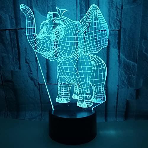 Lámpara de ilusión 3D, 7 colores, decoración de dormitorio, lámpara de escritorio, interruptor táctil USB, lámpara de mesa para niños, hombres, Navidad, cumpleaños