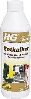 HG détartrants pour machine à expresso et à café à dosettes (500 ml) – Nettoyant – machines à café à dosettes comme Senso