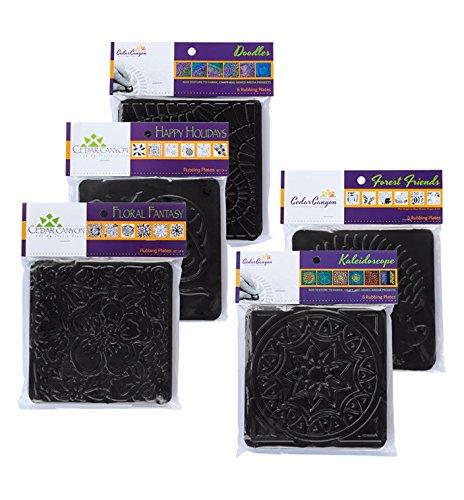 Jack Richeson 5 Set Rubbing Plate Bundle Pack