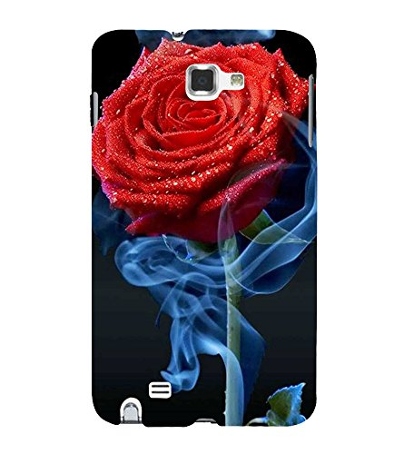 Fiobs Designer Back Case Cover for Samsung Galaxy Note 2 :: Samsung Galaxy Note Ii N7100 (Rose Flowers Floral Ful Red Gulaab Aroma Smell)
