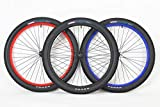 MANGO 26 inch Coaster Brake Wheel Set Beach Cruiser Bike Bicycle with 26 x 2.50 Tires and Tubes! (Satin Black)