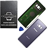 CELL4LESS Replacement Back Glass Cover Back Battery Door w/Pre-Installed Adhesive for Samsung Galaxy S8 Plus OEM - All Models G955 All Carriers- 2 Logo - OEM Replacement (Orchid Grey)