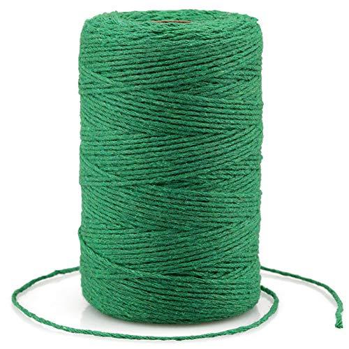 200M Cuerda de algodón,2MM Cuerda de manualidades,cordel de jardín,Cordel Hilo de panadero, para jardinería,Envolver Regalos, Hornear, Manualidades(verde)