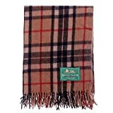 The Scotland Kilt Company Border Tweeds Knee Travel Rug Blanket Wool Tartan - Camel Thomson