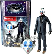BATMAN Mattel Year 2008 DC Comics Movie Series The Dark Knight 6 Inch Tall Action Figure - Gotham City Thug with Crime Scene Evidence Label and Mask of Clown with Brown Hair