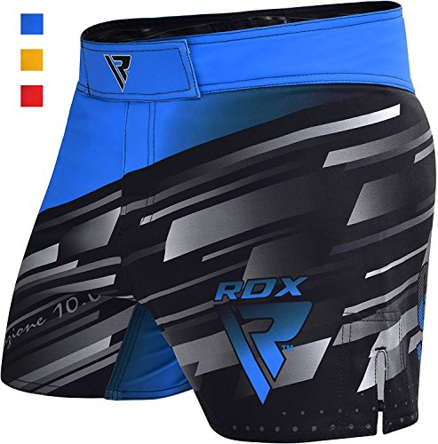 RDX MMA Blaze Shorts Stretch Clothing Training Cage Fighting Grappling Martial Arts Muay Thai Kickboxing Blue