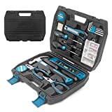 ORFELD Tool Set 116 Pieces, Household Hand Tool Kit with Solid Carrying Storage Case Plastic Toolbox,Home Repair Hand Tool Set for Garden Garage Office Dormitory and Manual Assembly